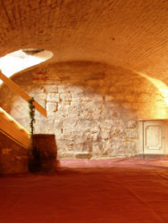 And its vaulted cellar, available for tastings