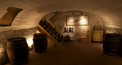 The vaulted cellar available for tastings - click for larger image